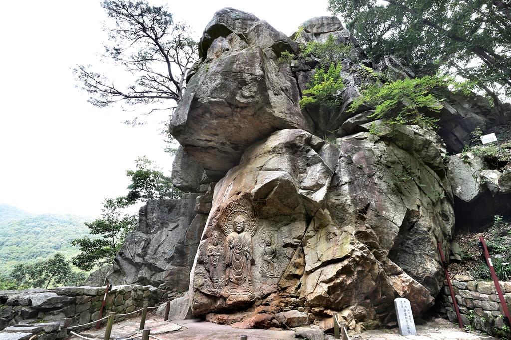 서산마애여래삼존상 [사진/조보희 기자]