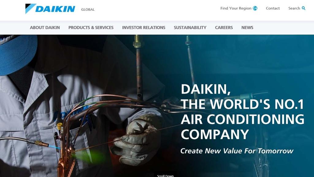 다이킨공업 홈페이지