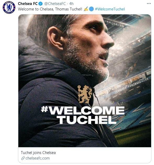 위기에 처한 첼시, 투헬 감독을 새로운 사령탑으로 임명 … 1 년 6 개월 계약
