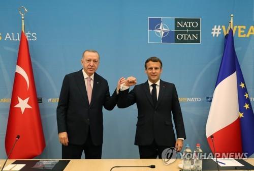 벨기에 브뤼셀에서 열린 프랑스-터키 정상회담