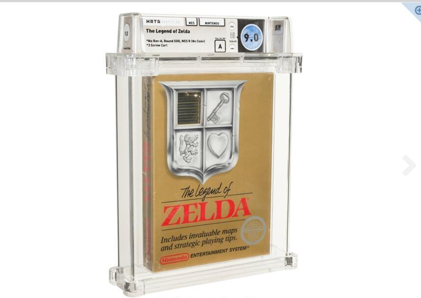 비디오 게임 경매사상 최고가로 판매된 닌텐도 '젤다의 전설' 게임 카트리지