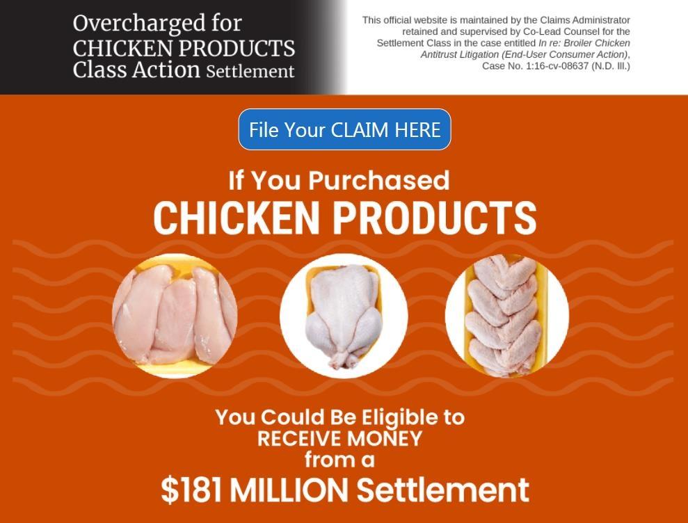 닭 가공업계 상대 소비자 집단소송 [집단소송 참가신청 웹사이트 화면 캡처 / 재판매 및 DB 금지]