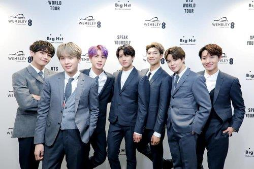 La banda masculina de K-pop BTS en una foto proporcionada por Big Hit Entertainment (Prohibida su reventa y archivo)