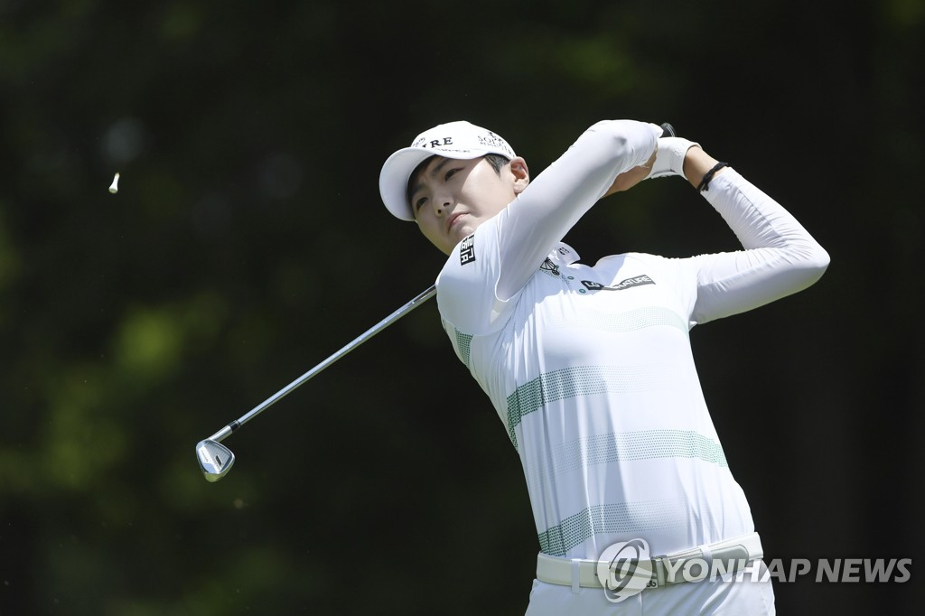 박성현의 경기 모습.