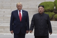(LEAD) Trump warns N. Korea not to interfere with his reelection bid