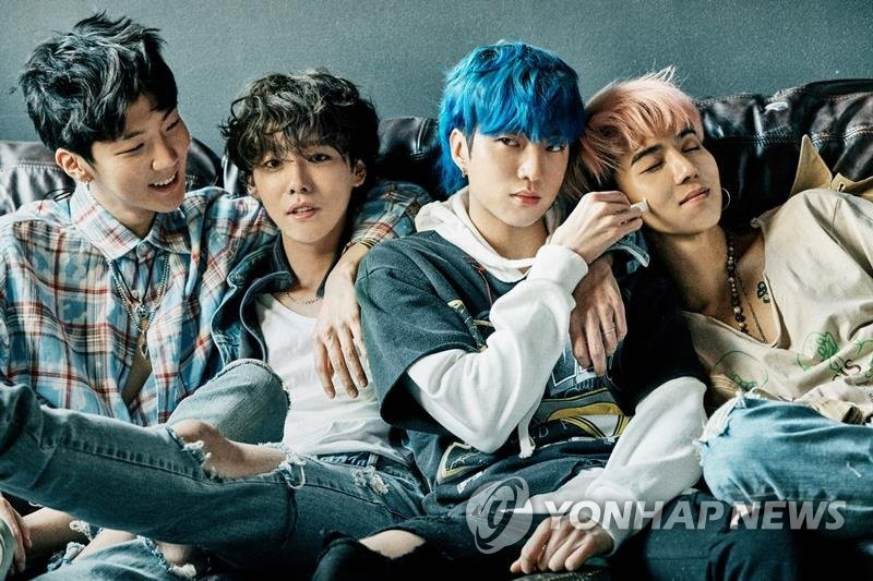 The photo provided by YG Entertainment shows K-pop boy band WINNER. (Yonhap)