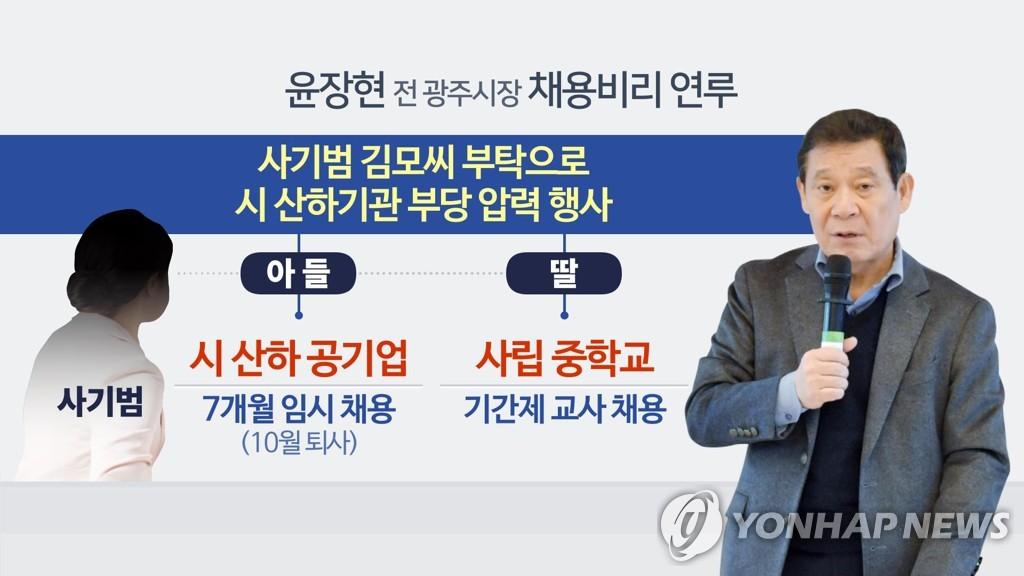 윤장현 전 광주시장 채용비리 연루 (CG)