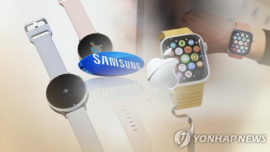 '이제 혈당 측정'… 삼성 · 애플 스마트 워치 '건강 체크'대회