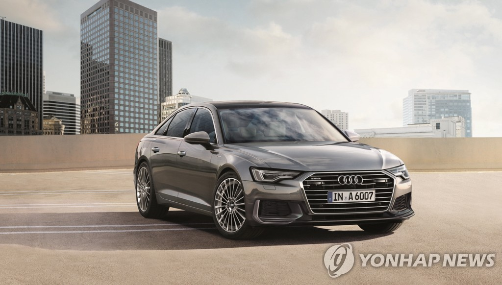 This file photo provided by Audi Volkswagen Korea shows the eighth-generation A6 gasoline model. (PHOTO NOT FOR SALE) (Yonhap)