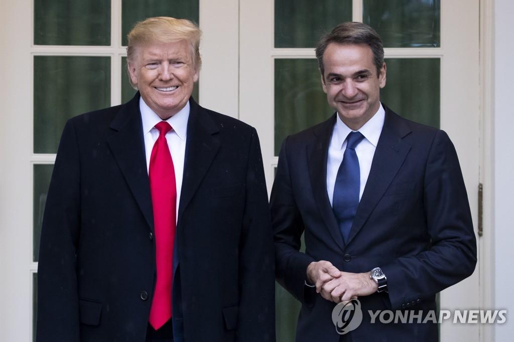 백악관서 만난 미국·그리스 정상