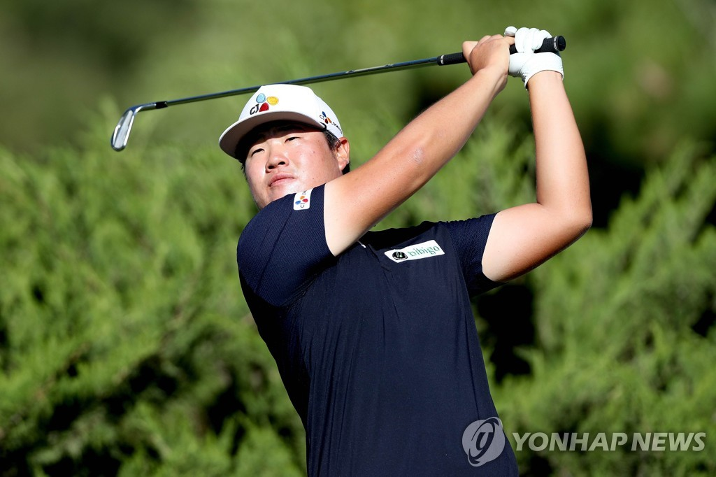In this Getty Images photo, Im Sung-jae of South Korea tees off on the fourth hole during his practice round for the CJ Cup @ Shadow Creek tournament at Shadow Creek Golf Course in Las Vegas on Oct. 13, 2020. (Yonhap)