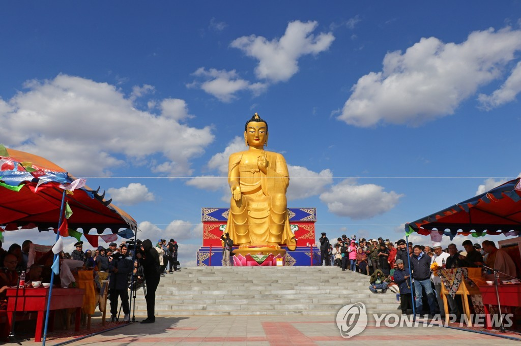 12m statue of Buddha unveiled in Kalmykia, Russia