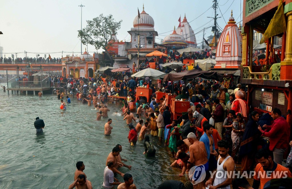 INDIA-HARIDWAR-MAKAR SANKRANTI-CELEBRATIONS