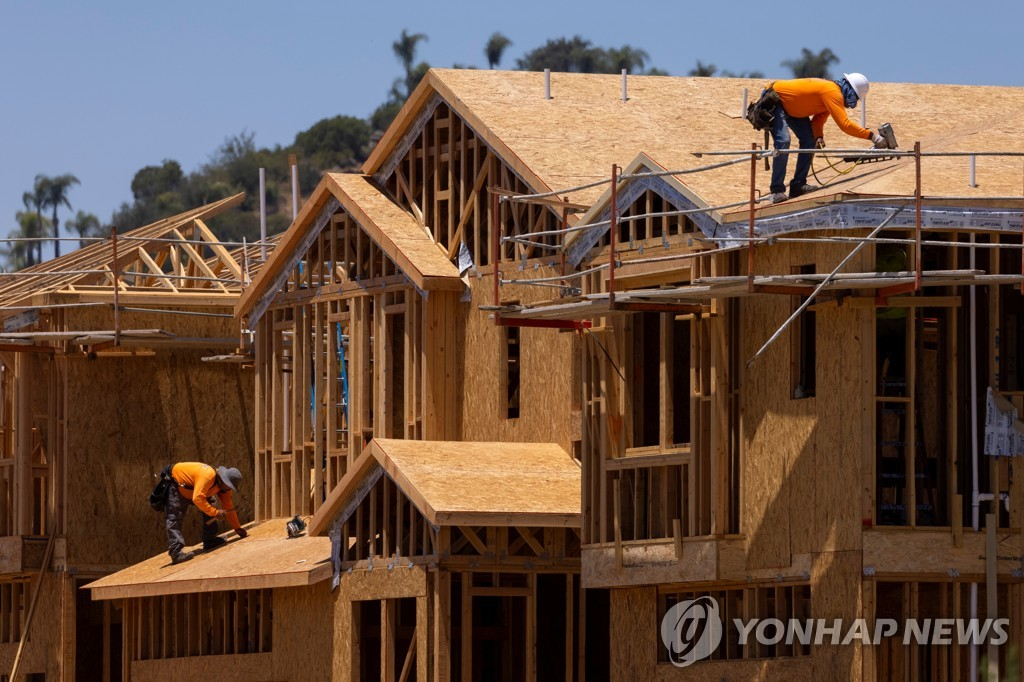 미국 캘리포니아주의 주택 건설 현장