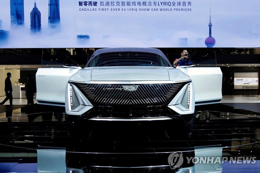 4월 중국 상하이 오토쇼에서 공개된 캐딜락 리릭 전기차