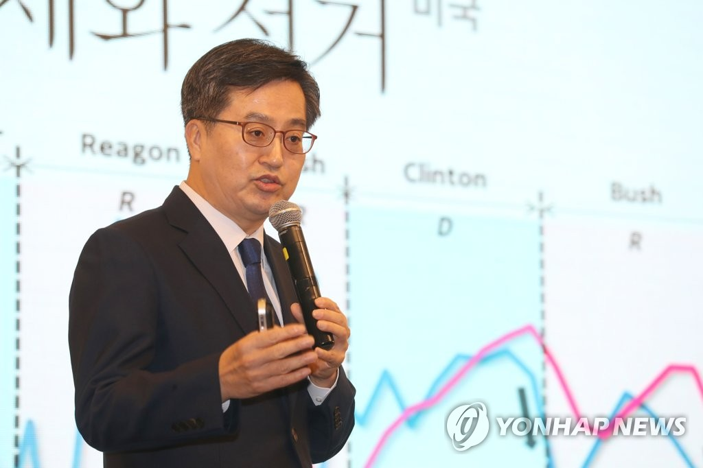 This file photo shows Finance Minister Kim Dong-yeon. (Yonhap)