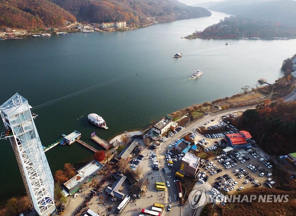 춘천 남이섬 짚와이어 60만 명 돌파