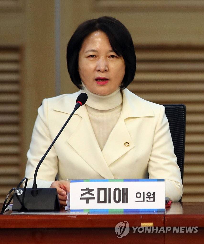 Rep. Choo Mi-ae of the Democratic Party, nominated to head the Ministry of Justice, in a file photo (Yonhap)