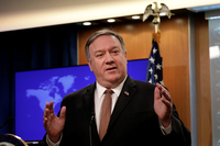 (LEAD) U.S., N.K. trying to get 'sequencing' right in nuclear talks: Pompeo