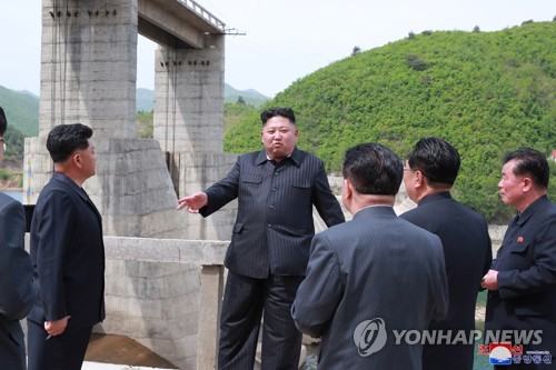 N.K. leader inspects power station