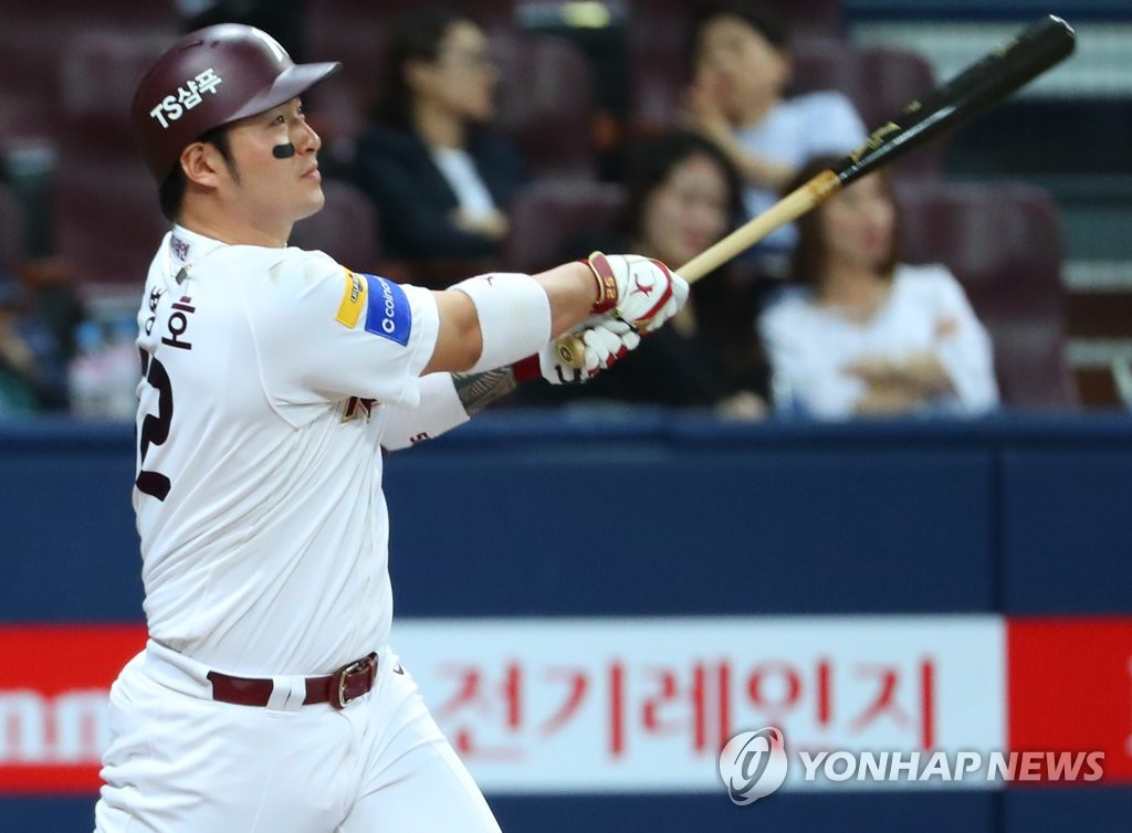 KBO's home run leader tops in average exit velocity on hits