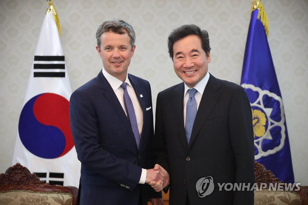 S. Korean PM meets Danish crown prince