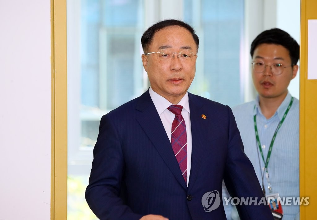 Economy and Finance Minister Hong Nam-ki (Yonhap)