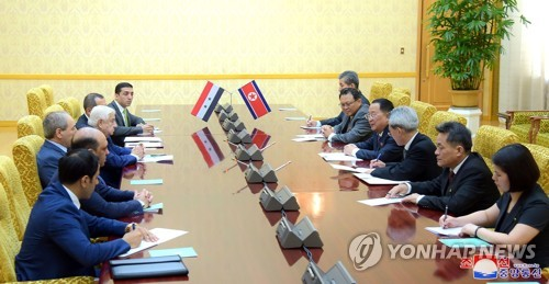N. Korean FM meets Syrian delegation