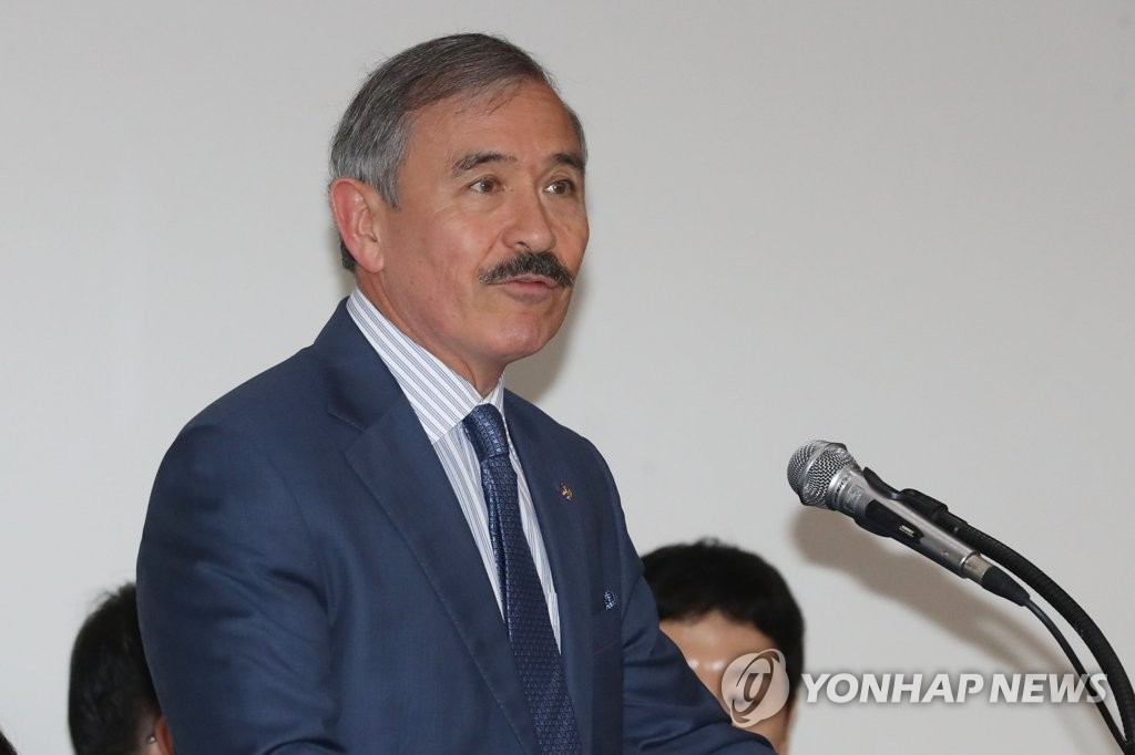 U.S. Ambassador to South Korea Harry Harris speaks during an event in Seoul on July 5, 2019. (Yonhap)