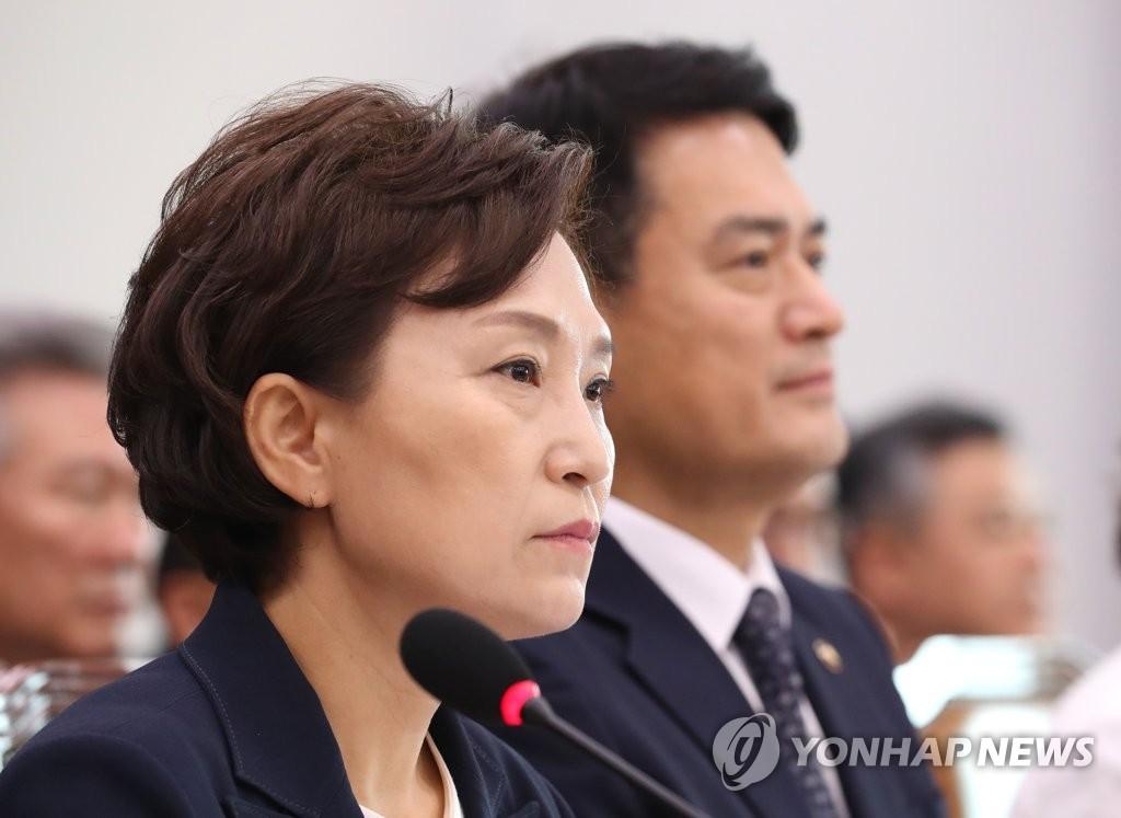 국토위 전체회의 참석한 김현미 장관