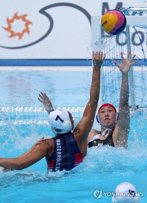 S. Korean water polo team falls to Hungary