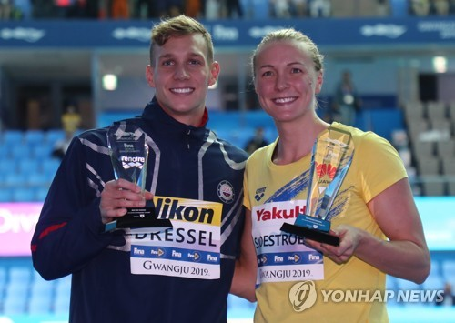 (LEAD) (Gwangju Swimming) Dressel, Sjostrom named top swimmers