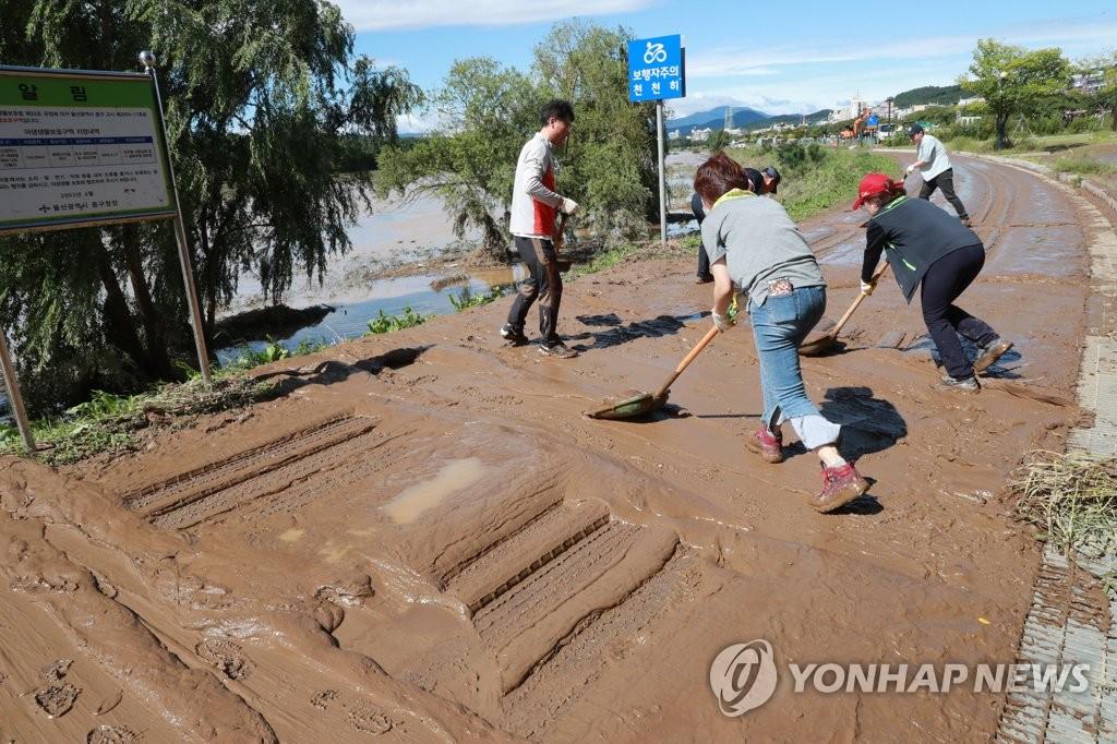 울산시, 태풍 '미탁' 피해복구 재난 지원금 지급 | 연합뉴스