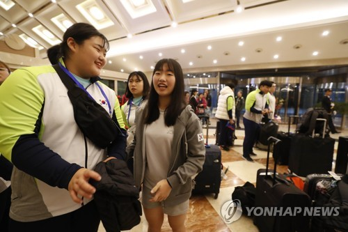 S. Korean weightlifter Park Hye-jung in N. Korea