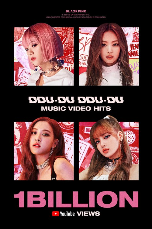 BLACKPINK logra 1.000 millones de visualizaciones en YouTube