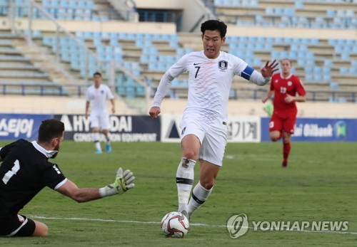 (2nd LD) S. Korea get scoreless draw vs. Lebanon in World Cup qualifier behind closed doors