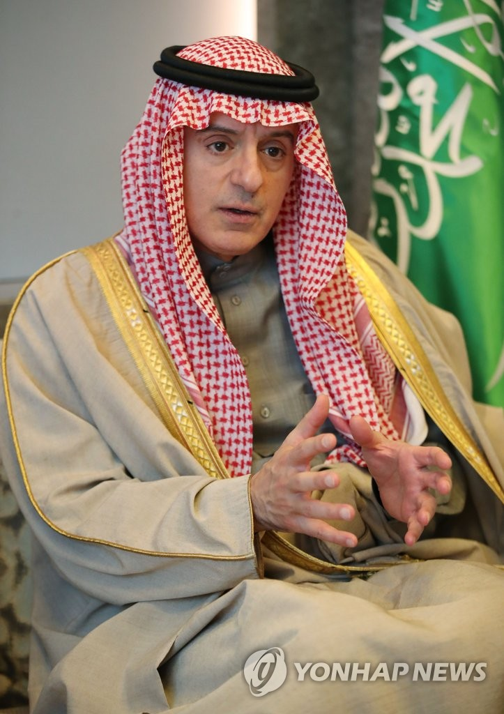 Adel al-Jubeir, Saudi Arabia's minister of state for foreign affairs, speaks during an interview in Seoul on Dec. 4, 2019. (Yonhap)
