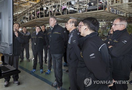 Renault executive at Busan plant