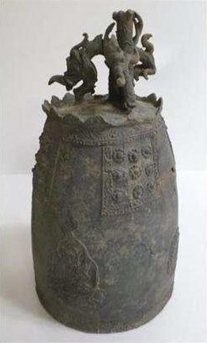 Ancient bronze bell excavated