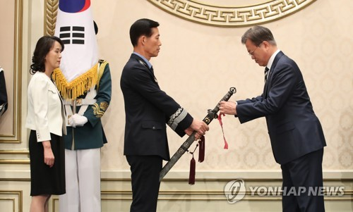 Moon attends ceremony for new Air Force vice chief