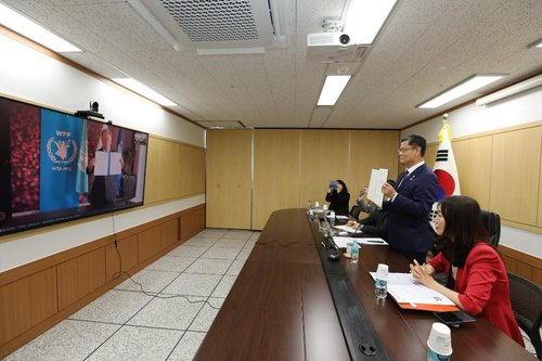 Unification minister teleconference with WFP head