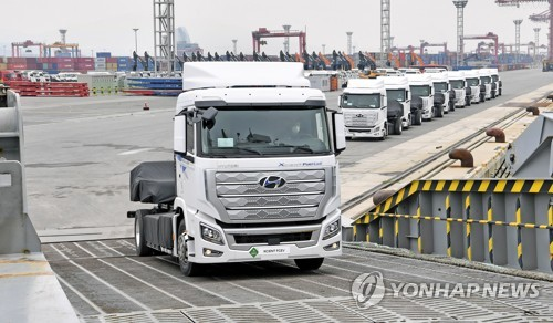 Hyundai ships hydrogen trucks to Switzerland
