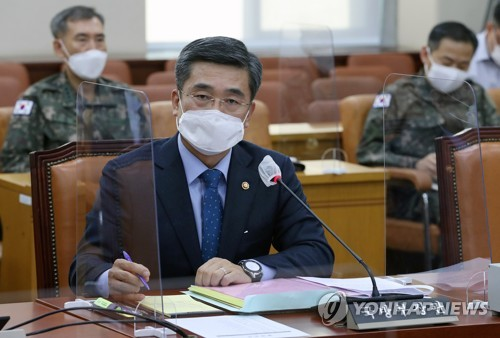 Defense chief at parliamentary session