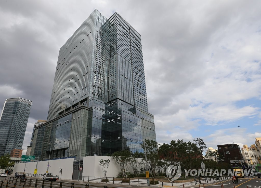 This undated file photo shows a building in Yongsang, central Seoul, where Big Hit Entertainment is expected to relocate to later this year. (Yonhap)
