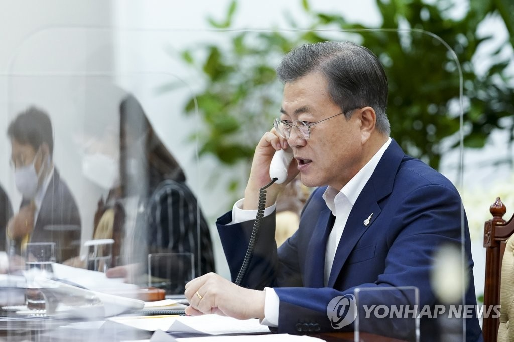 In phone talks with Moon, Putin says Russia set to cooperate on Korea peace: Cheong Wa Dae