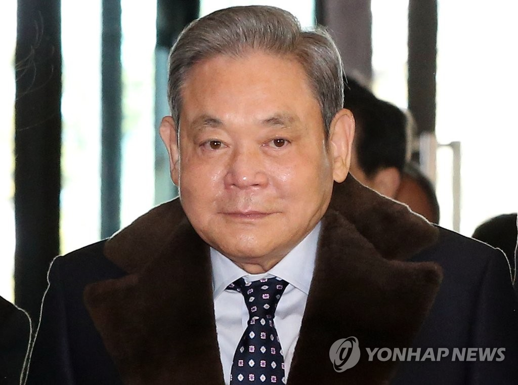 This file photo shows Samsung Electronics Co. Chairman Lee Kun-hee. He died at a hospital in Seoul on Oct. 25, 2020, at age 78. (Yonhap)