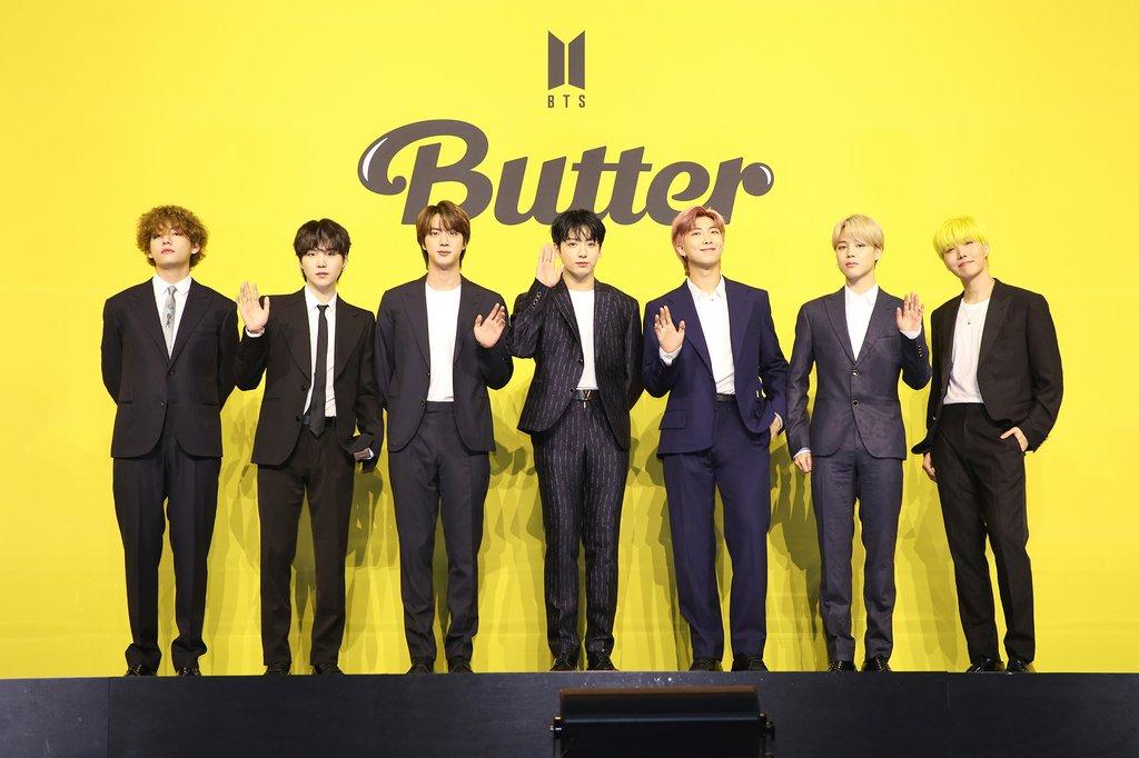 '버터'로 빌보드 싱글 차트 9주 1위 기록을 달성한 방탄소년단