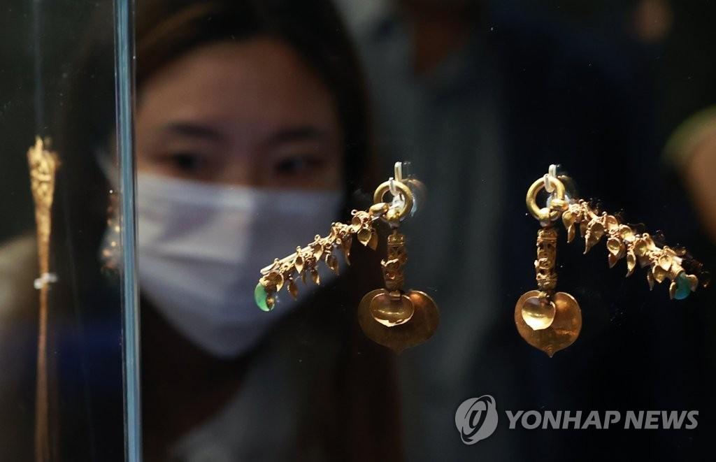 무령왕릉 특별전, 국보 '왕의 금귀걸이'